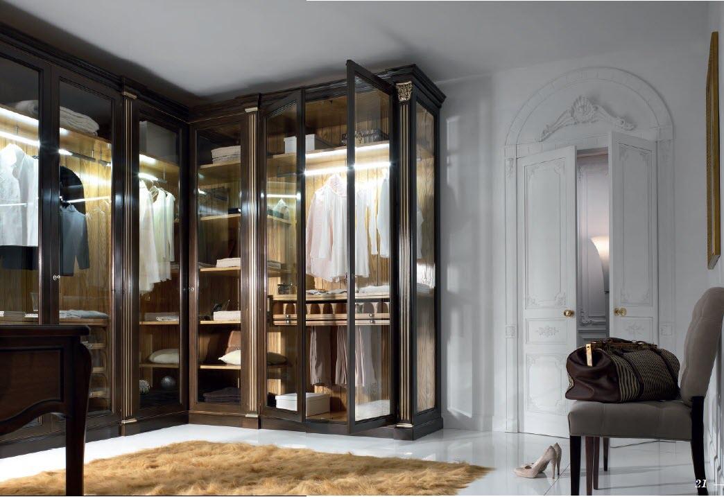 Распашная гардеробная со стеклянными дверьми гардеробные на .